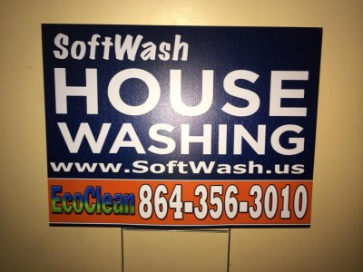 pressure wash sign by Sign2Day