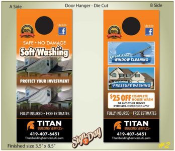 door hangars by Sign2Day at www.sign2day.com