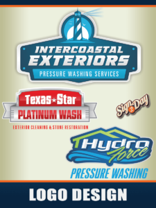 Pressure Washing Logo by Sign2Day for Window Cleaning Logo creation