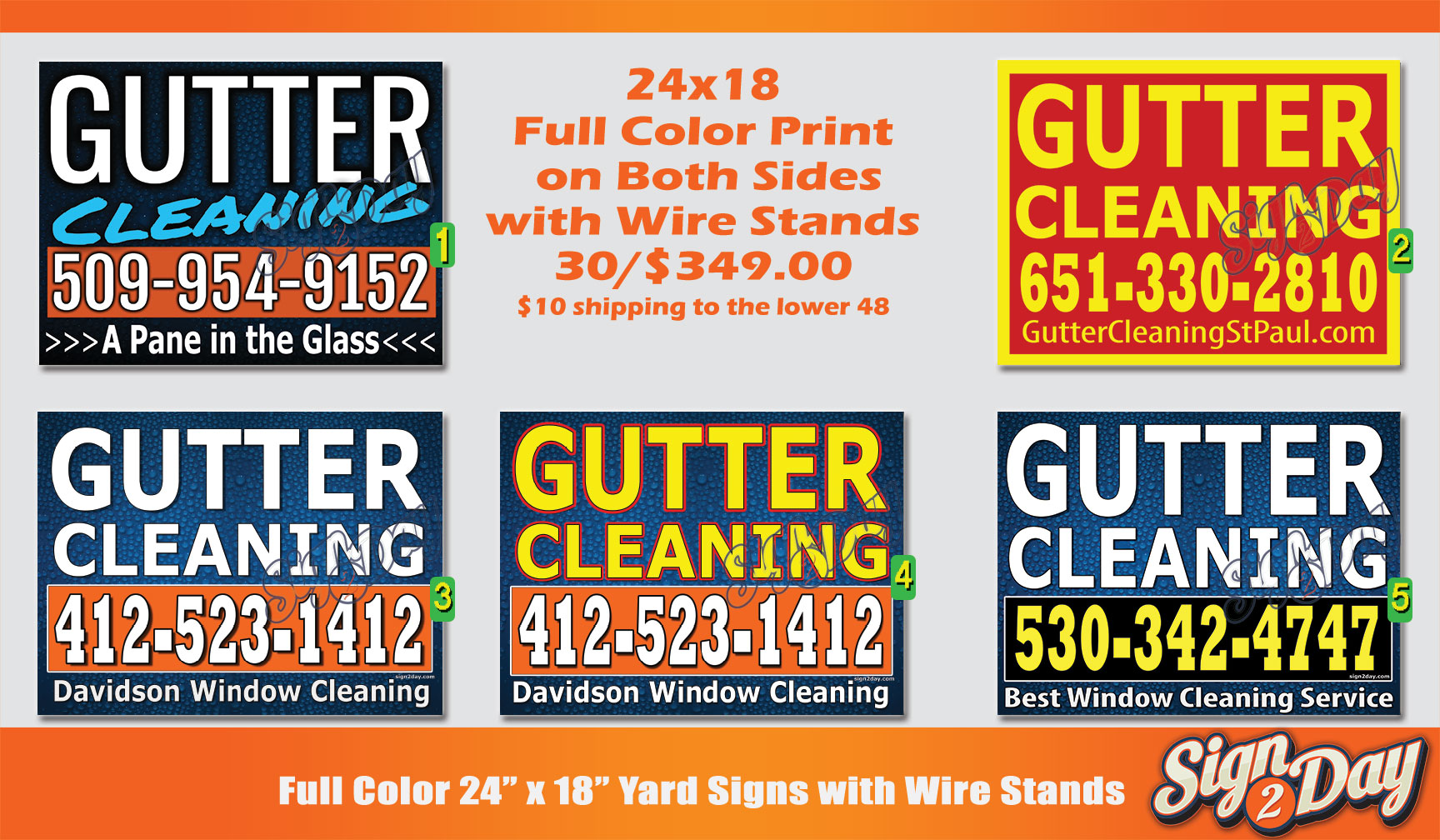Cheap Gutter Cleaning Yard Sign Ideas