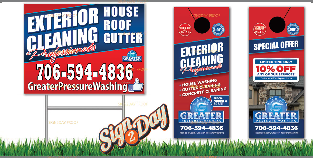 Door Hangers and Yard Signs