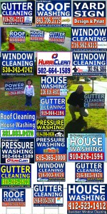 Full Color Contractor Signs