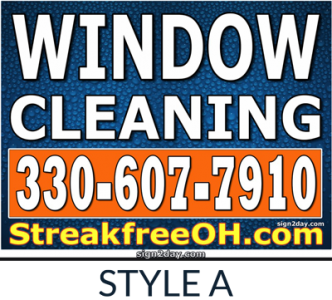 Window Cleaning Yard Sign by Sign2Day