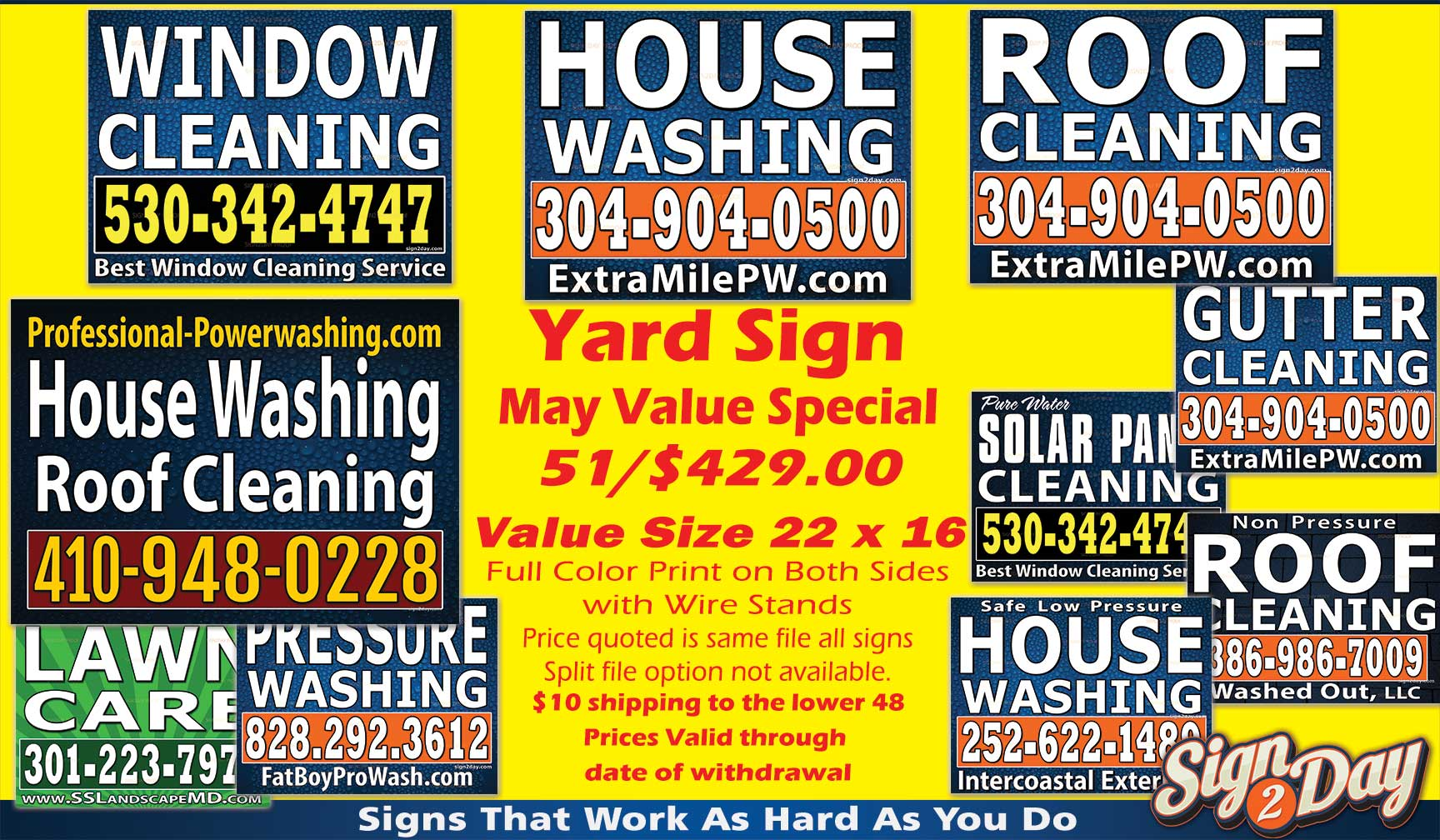 Cheap Value priced Yard Sign Ideas
